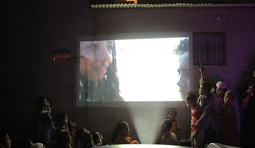 A screening at Ibrahim Hyderi.